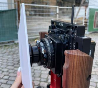 Aufnahme mit LCD-Scheibe