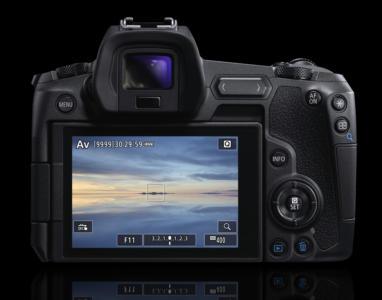 Foto Canon EOS R von hinten