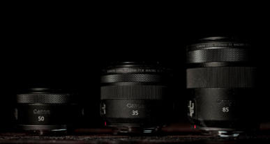 Drei Canon Festbrennweiten