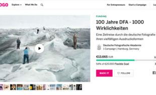 DFA-Crowdfundingkampagne Screenshot