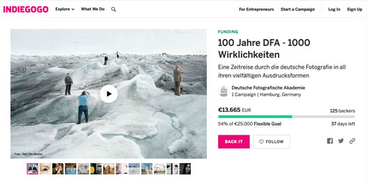 DFA-Crowdfundingkampagne Screenshot