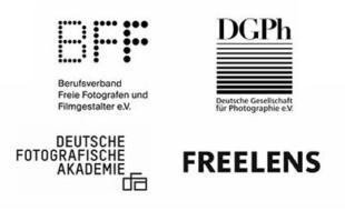 Logos von vier Fotoverbänden