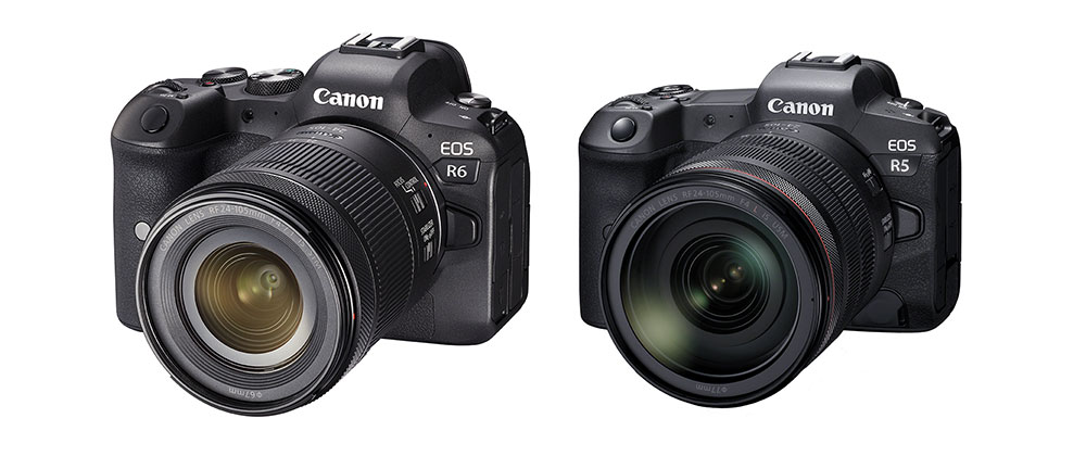 Canon EOS R6 und canon EOS R5