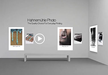 Screenshot Hahnemühle Virtual Gallery