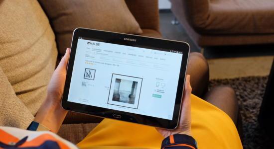 Foto 3D-Konfigurator auf Tablet