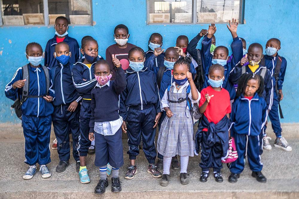 Kinder der Kibera Hope Academy