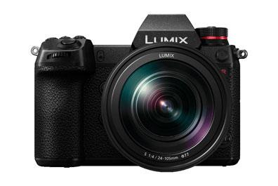 Foto einer Lumix Kamera in Frontansicht