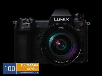 Foto Lumix S1R mit Logo DxOMark Sensor