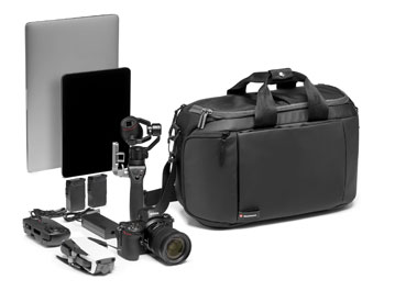 Manfrotto Tasche mit Kamera und Zubehör