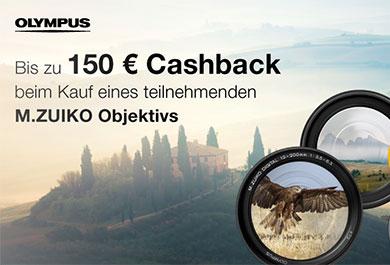 Cashback Aktion von Olympus