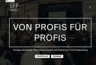 Screenshot BFF Akademie