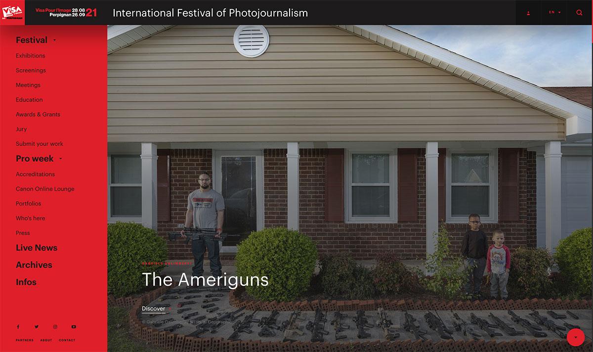 Screenshot von der Seite www.visapourlimage.com