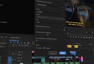 Adobe Premiere Pro Sprache zu Text