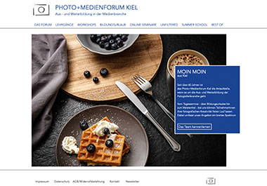 Screenshot Webseite Photo-Medienforum Kiel
