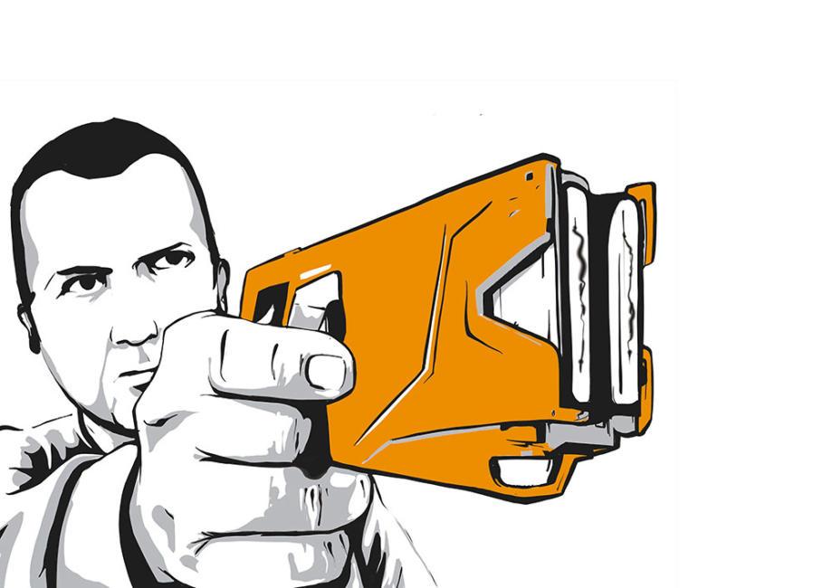 Taser-Pistole
