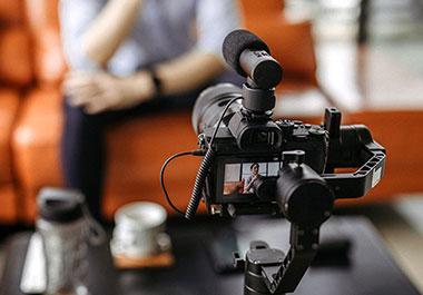 Kameraaufbau mit Videozubehör