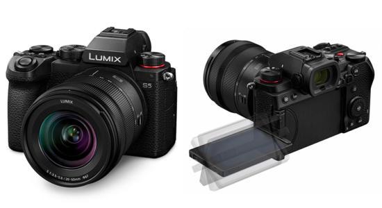 Panasonic Lumix S5 von vorne und hinten