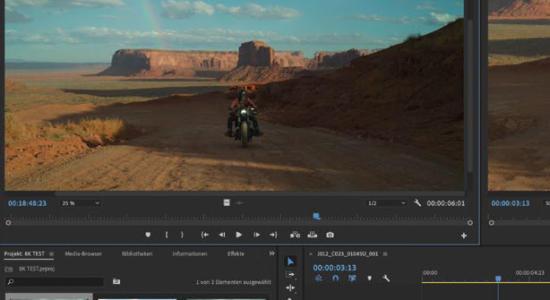 8K-Video Bearbeitung