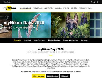 Screenshot myNikon Days 2020